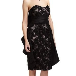 NWT BADGLEY MISCHKA  - Size 6 Black Lace Dress